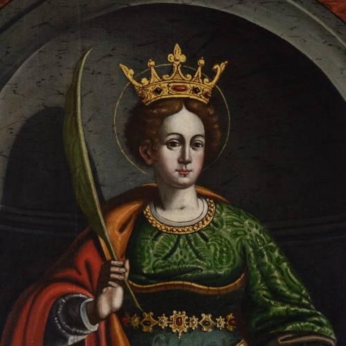 Ultimato il restauro del dipinto di Santa Caterina