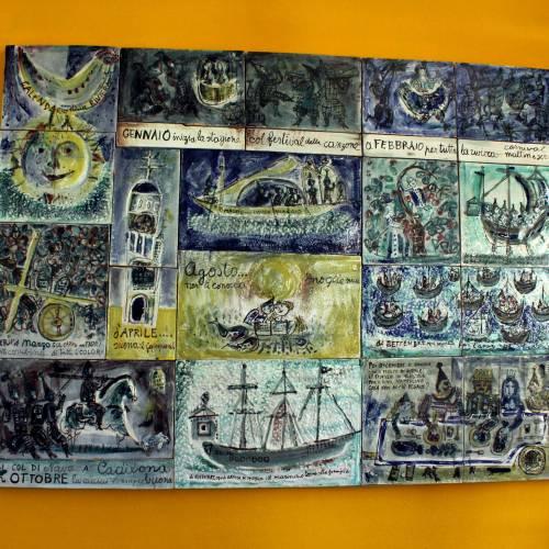 Al Museo Trucco di Albisola la nuova casa del Calendario della Riviera di Luzzati